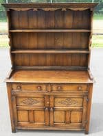 Oak Dresser Antique Style Plate Rack Back